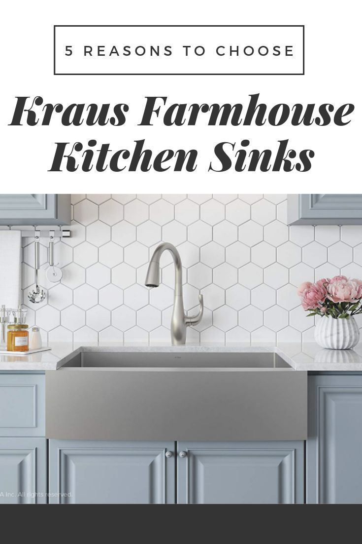 5 Reasons Why You Need To Buy Kraus Farmhouse Kitchen Sinks