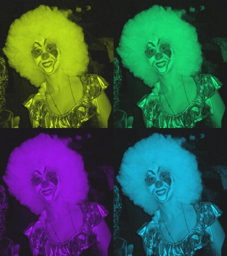 Clown costume- wig. Disfraz de payaso.