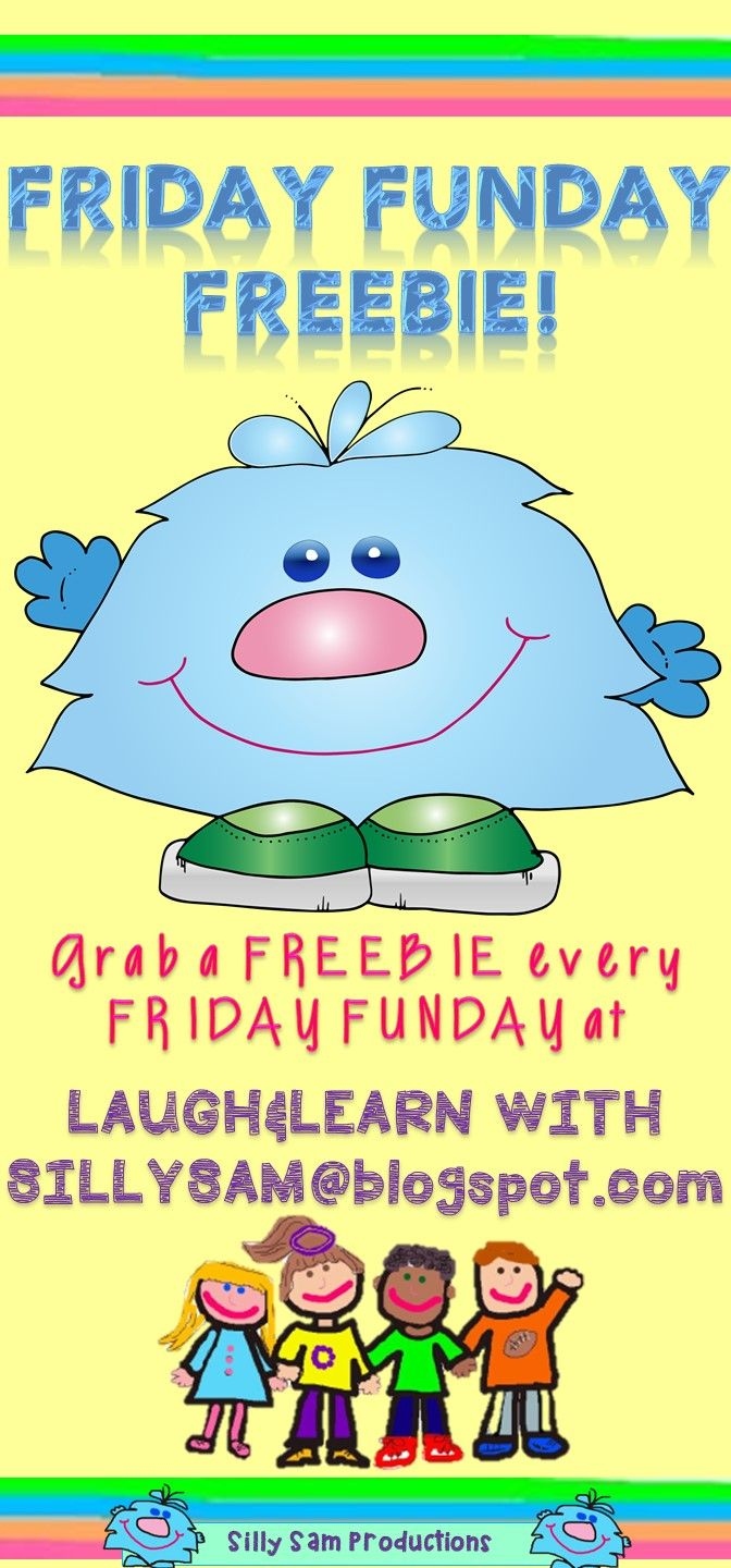 FRIDAY FUNDAY FREEBIE from Silly Sam Productions! HAPPY FRIDAY!