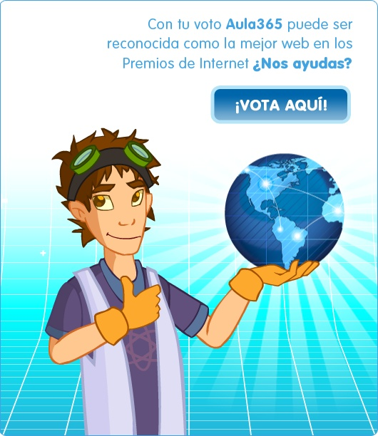 Los Premios de Internet todos los años  premian a lo mejor del mundo digital.  En categorías como Mejor Web, Mejor empresa, entre otras clasificaciones. Estos premios son una gratitud al esfuerzo de quienes, día a día, trabajan por mejorar el mundo digital. En el 2012 estamos nominados a la Mejor Web. Necesitamos de tu ayuda… ¿Te sumas?  http://argentina.aula365.com/premios-internet-2012