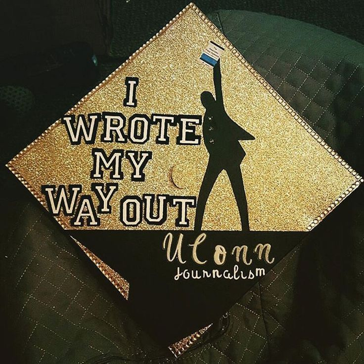 Ornate Graduation Cap – Hamilton Quote: I wrote my way out