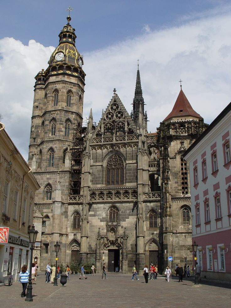 Slovakia, Kosice, St. Elizabeth's Catedral on Main Street;