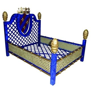 Shop for Faux Lapis Crown and Lattice Luxury Pet Bed. Get free delivery at Overstock.com - Your Online Pet Supplies Store! Get 5% in rewards with Club O! - 17471609