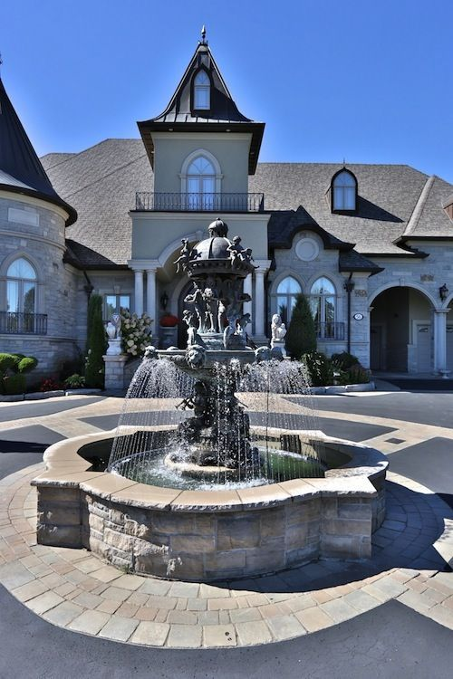 Front driveway! Nothing says wow like seeing a fountain as you drive