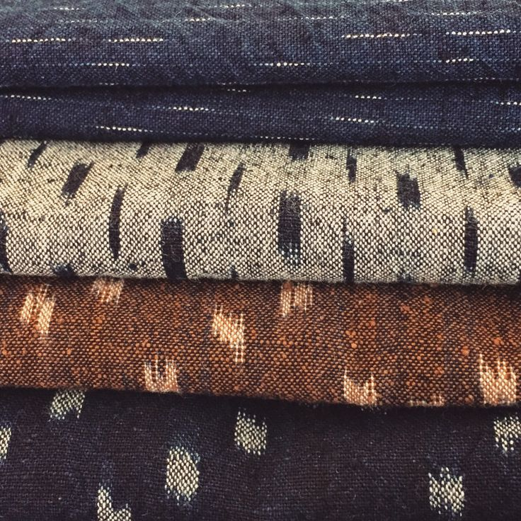 thecompanionseye: In love with these Japanese selvedge Ikat-Kasuri textiles. #ikat #indigo #selvage