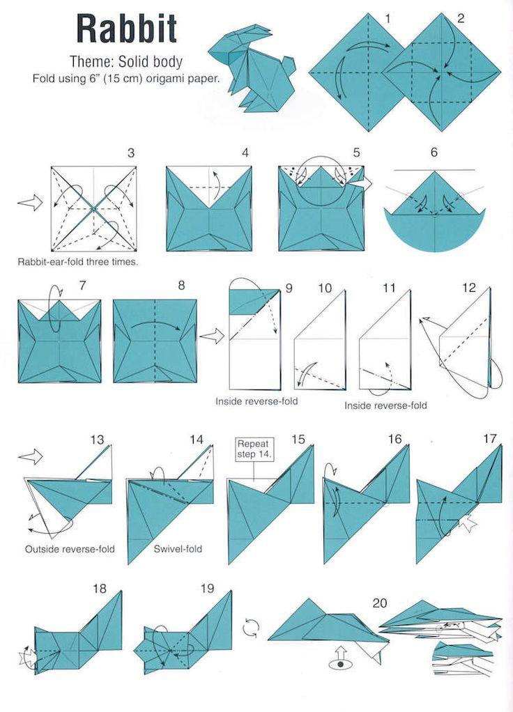 17 meilleures id es propos de origami animaux sur pinterest animaux en or - Pliage serviette animaux ferme ...