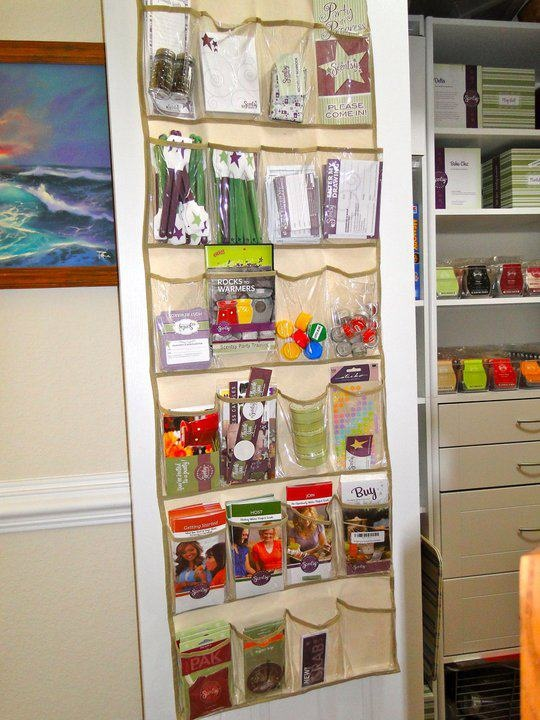 What a great way to organise Scentsy stuff!!