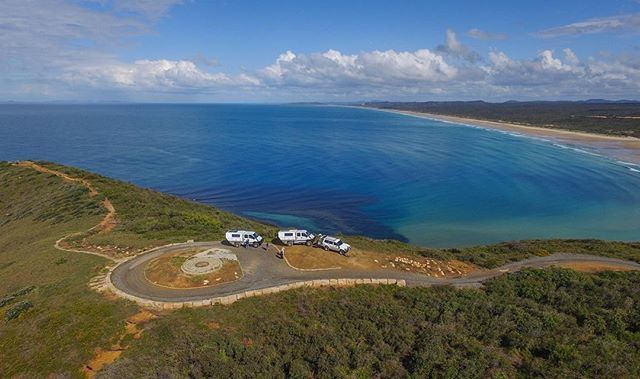 Stockyard Point overlooking 9 mile beach at Byfield NP. #capricorncoast  #queensland #byfield #iveco #visitcapricorn
