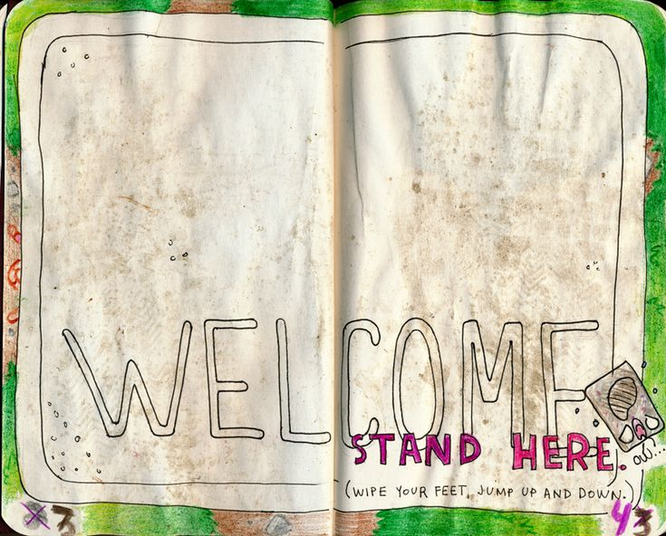 Wreck this Journal - Stand Here by ladyz0e on DeviantArt