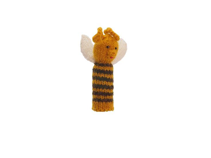 みつばちの指人形   ihanaa−北欧とバルト三国の毛糸と 雑貨のセレクトショップ