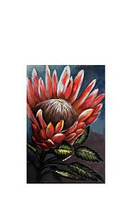 100% HAND PAINTED PROTEA 60X90CM WALL ART