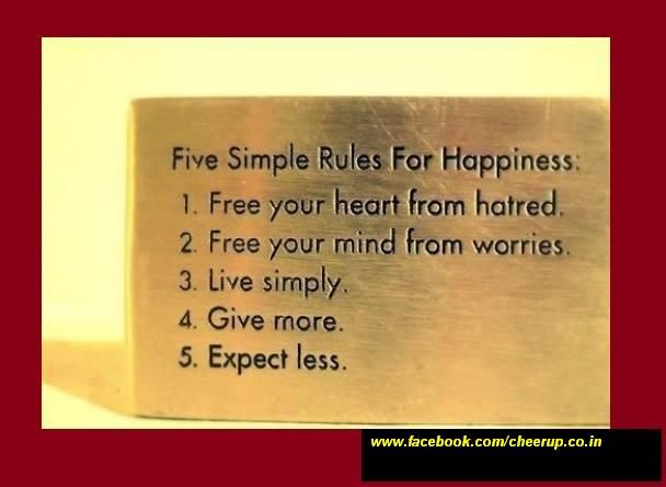 Live a Stress free life ! Be Happy.. Cheer Up.....