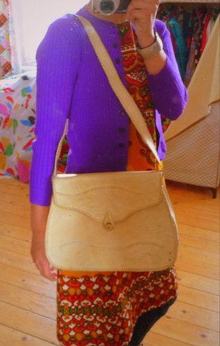 VINTAGE UNIKAT Tasche Leder Bag Boho Messenger Kurier Crossover Schultertasche | eBay