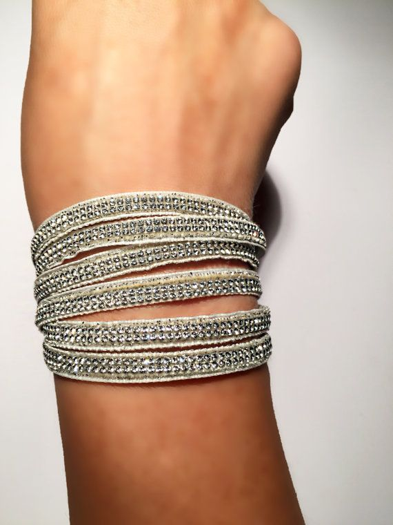 Silver Swarovski bracelet with magnetic clasp