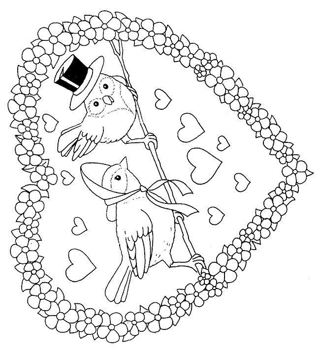 valentine's day advanced coloring pages