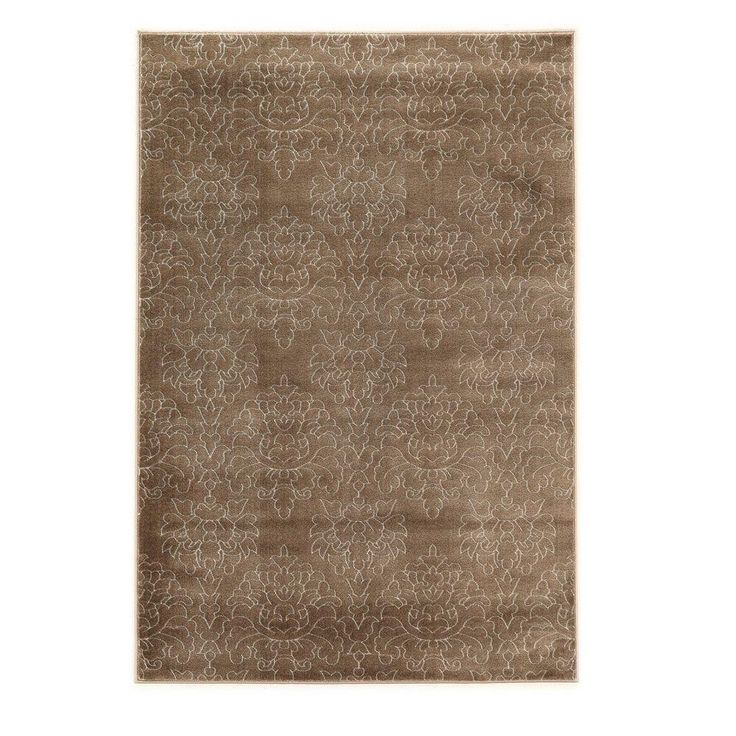 Prisma Chloe Brown and White 5 ft. 3 in. x 7 ft. 6 in. Indoor Area Rug, Primary: Brown/Secondary: White