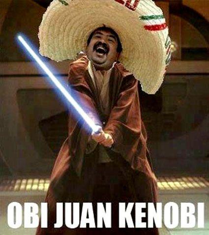I see your Han Cholo and raise you one Obi Juan Kenobi http://ift.tt/2edbfDO