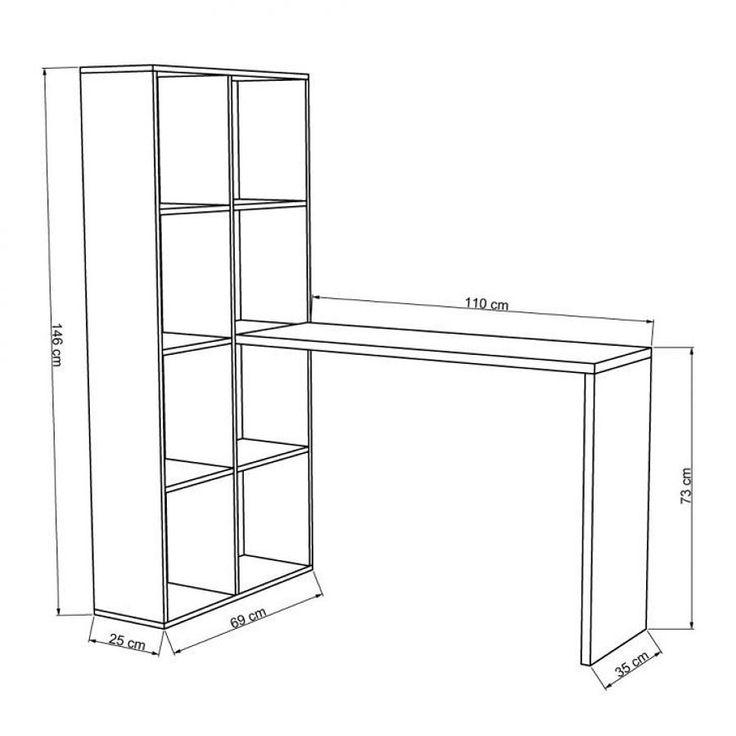 Orçamento do seguinte móvel:    Estante com 8 prateleiras e mesa para computador    Dimensões aproximadas do produto: (AxLxP) 1490x690x1350cm    Material: MDF ou...