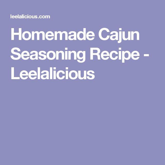 Homemade Cajun Seasoning Recipe - Leelalicious