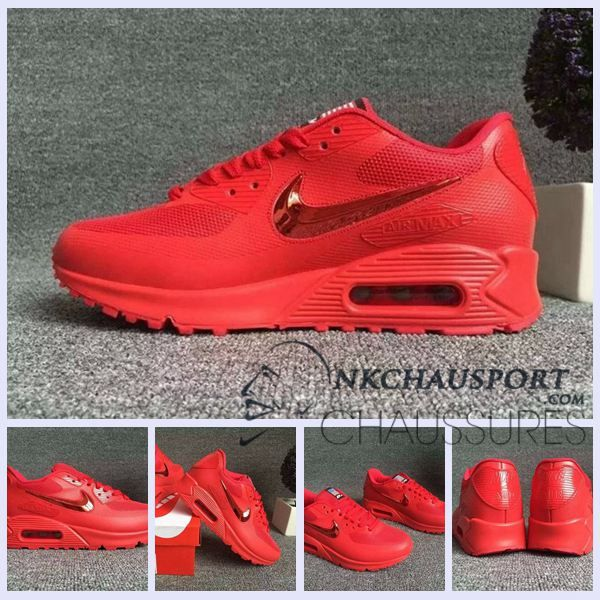 Nike Air Max 90 2016 | Meilleur Chaussures Running Homme Rouge