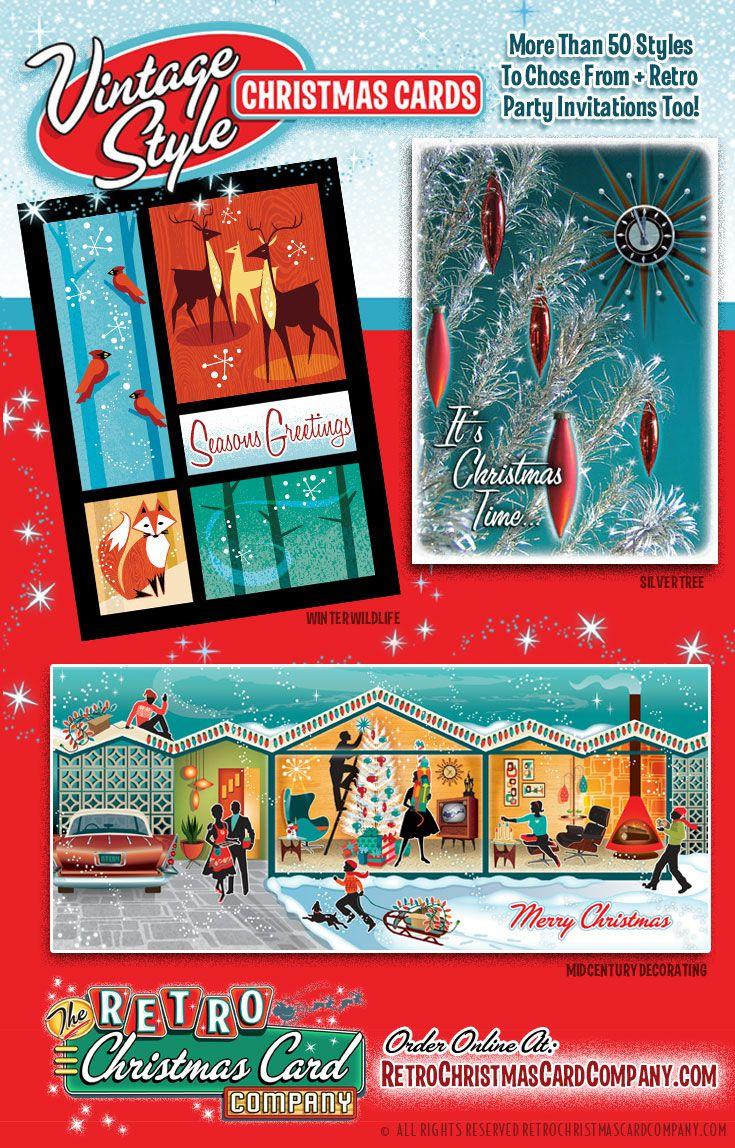 Vintage christmas party invitations - Vintage Christmas Party Invitations