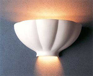 Lámpara de yeso decorada capitel