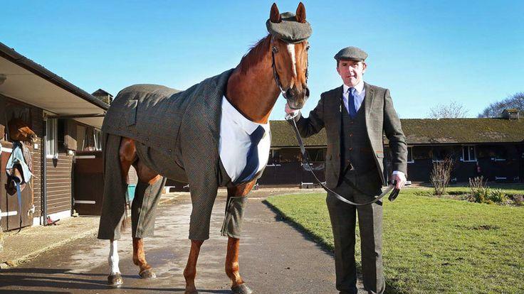 Los caballos visten como sus dueños.  Una diseñadora de Alexander McQueen ha confeccionado un traje de 'tweed' para conmemorar la carrera de caballos más famosa de Inglaterra después de Ascot.  https://www.facebook.com/pages/Foro-Horses/729255127151667 --------------------------------------------------- http://www.globalvoces.com/