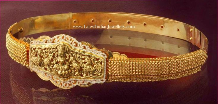 Diamond Studded Lakshmi Waist Belt