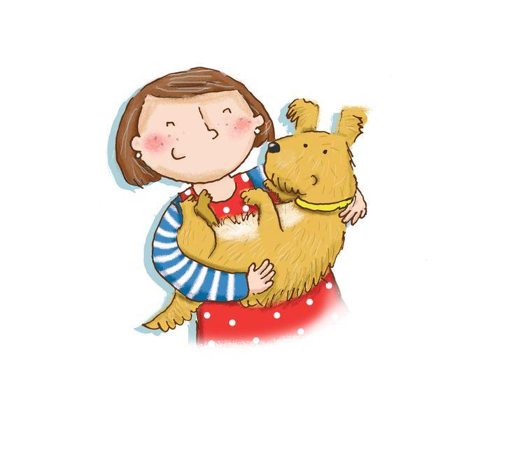 kate daubney, dog, girl, kids illustration, childrens illustration