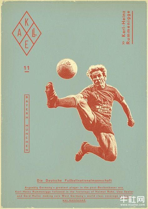 復古足球海報