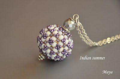 beaded bead tutorial http://mayagyongyei.blogspot.com/2009/10/indian-nyar-minta-indian-summer-with.html
