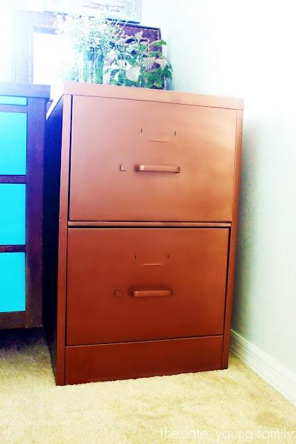 copper filing cabinet