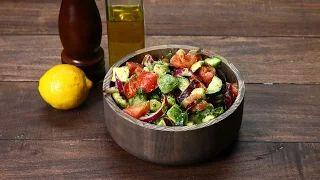 Healthy Cucumber, Tomato, and Avocado Salad - YouTube