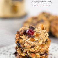 Ciasteczka owsiane FIT z bananem, żurawiną i suszoną morelką – bez cukru, bez mąki, bez tłuszczu
