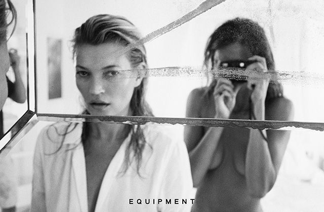 Кейт Мосс и Дарья Вербова сняли рекламную кампанию Equipment (фото 6)