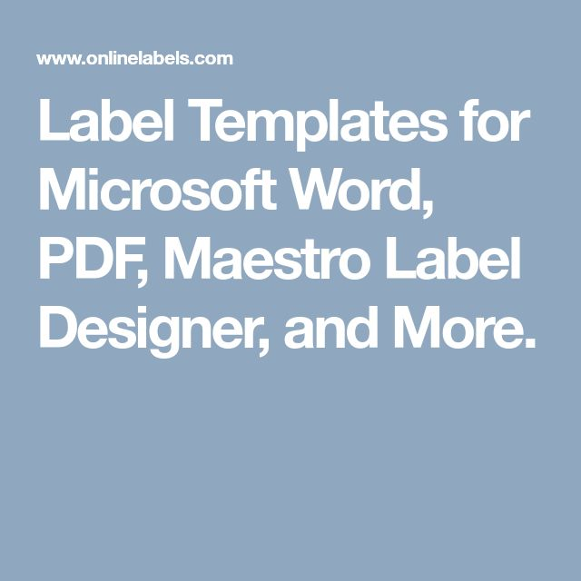 Best 25+ Label templates ideas on Pinterest Free printable - free label templates for word