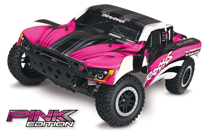 Traxxas 1/10 Slash 2WD Short Course Truck w/ Battery ID & 4A DC Charger - Pink Edition - Off-Road - Cars - Radio Control #radiocontroltrucks