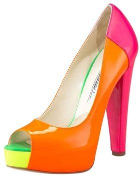 Brian Atwood Pink Patent Alima Orange Pumps over 70% OFF