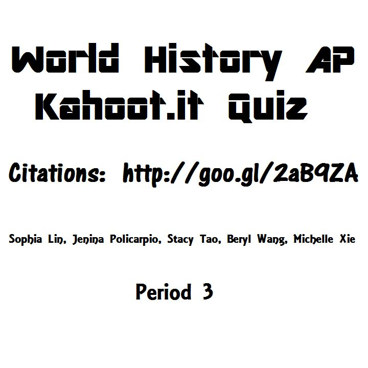 Check out this #Kahoot called 'World History AP' on @GetKahoot. Play it now!
