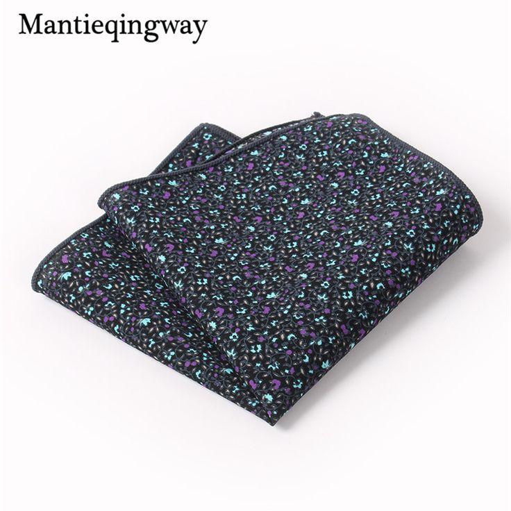 >> Click to Buy << Mantieqingway Cotton Floral Handkerchief Formal Business Suit Handkerchiefs Wedding Paisley Hanky Fashion Men's Pocket Square #Affiliate