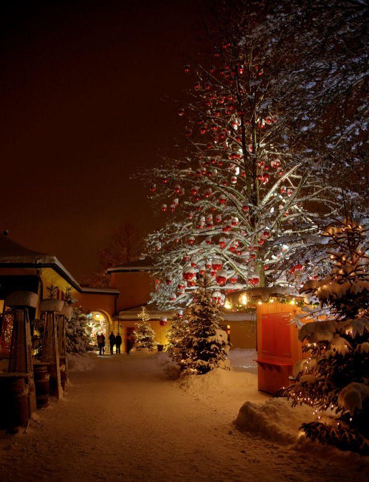 Christmas tree in the Hellbrunn Palace, Salzburg, Austria