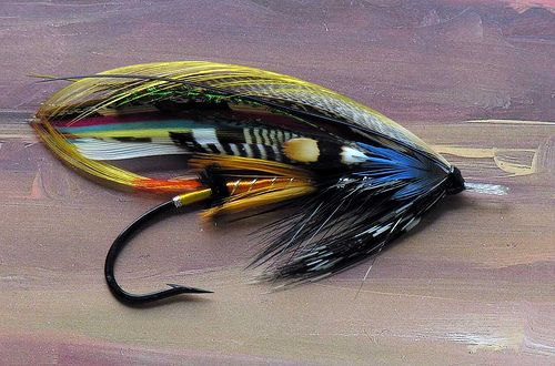 Jock scott feather wing fly fishing flies pinterest for Fly fishing feathers