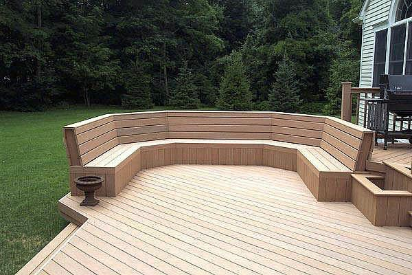 decks with built in benches Advantages Of Composite Deck Bench