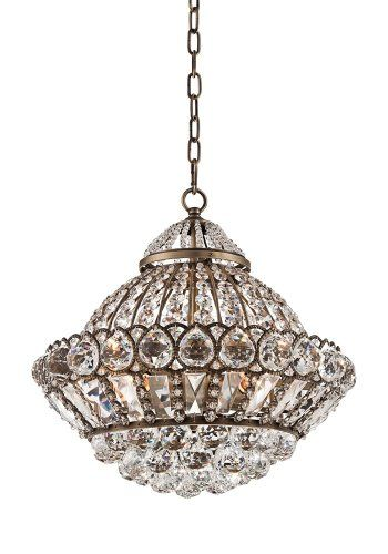 Wallingford 16 Wide Antique Brass And Crystal Chandelier Home Improvement
