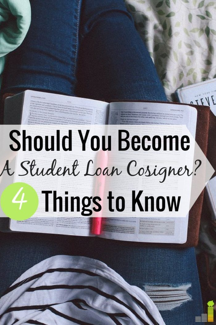 What to Know Before You Become a Student Loan Cosigner. Student loan debt | Student loans | College debt | College loans via @MadMoneyMonster