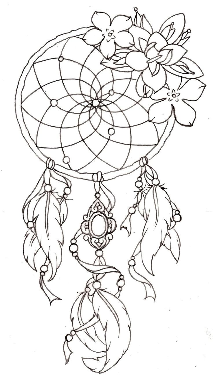 dreamcatcher tattoo - similar to this on either my right forearm or my shoulder blade, without the flowers