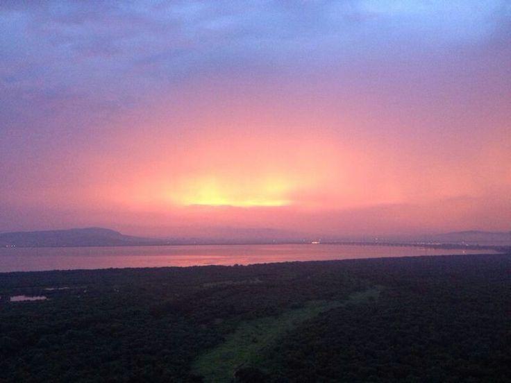 Beautiful sunset shot from Palm Beach Residency, Nerul, Navi Mumbai (pic by Deepali Ghanekar)
