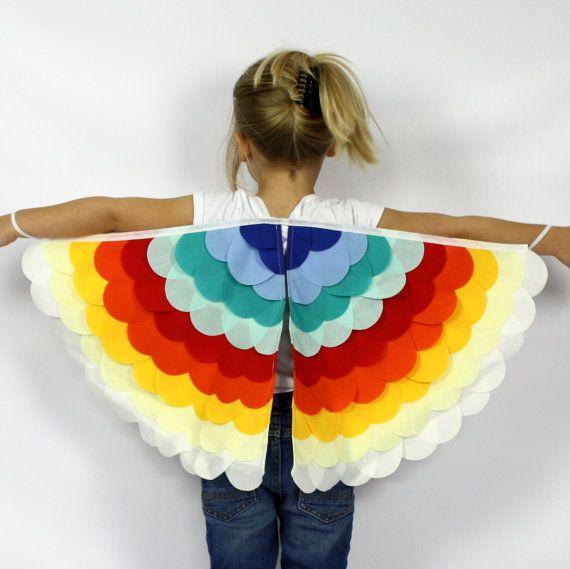 The Bird Wings  Rainbow   Handmade by sparrowandbcostumery on Etsy