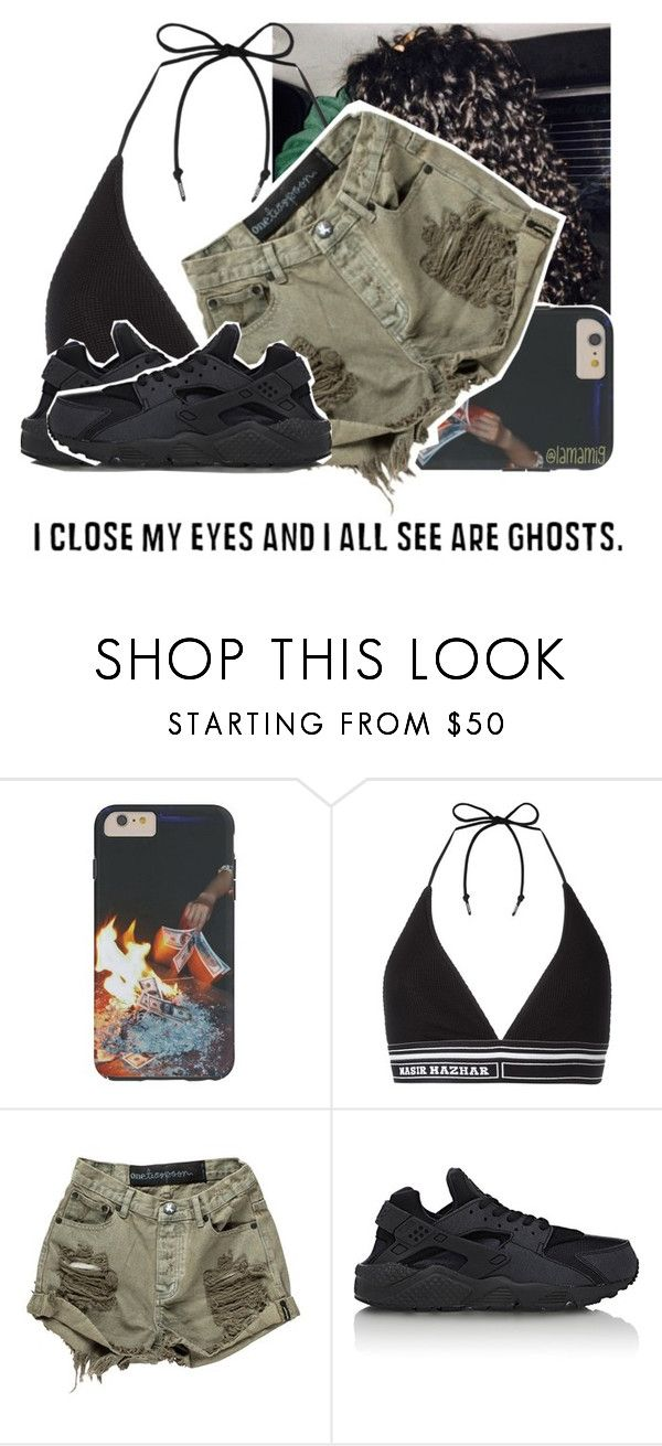 """""""watching the rap game."""" by lamamig ❤ liked on Polyvore featuring Nasir Mazhar, OneTeaspoon and NIKE"""