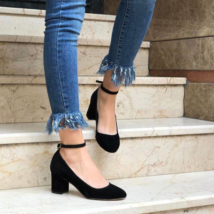 Candy Siyah Renk Süet Topuklu Ayakkabı  WhatsApp Bilgi & Sipariş : 0 (541) 2244 541  www.shoemodam.com